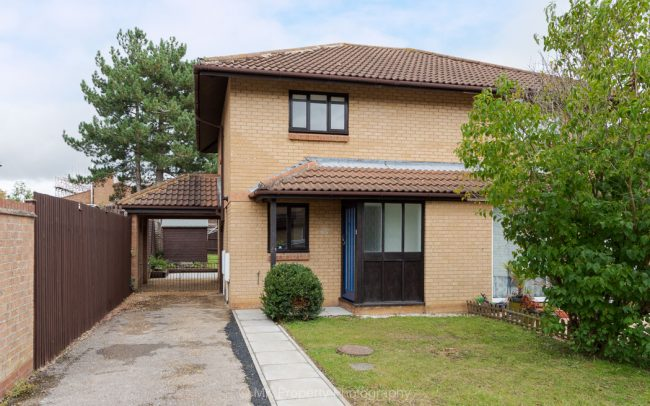 Front of semi detached house
